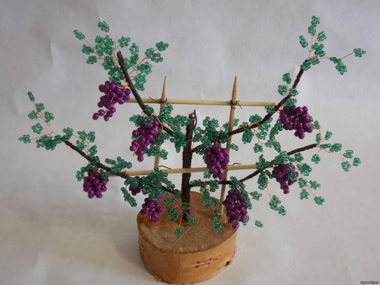 Деревья из бисера мастер-класс: сакура и березка 31